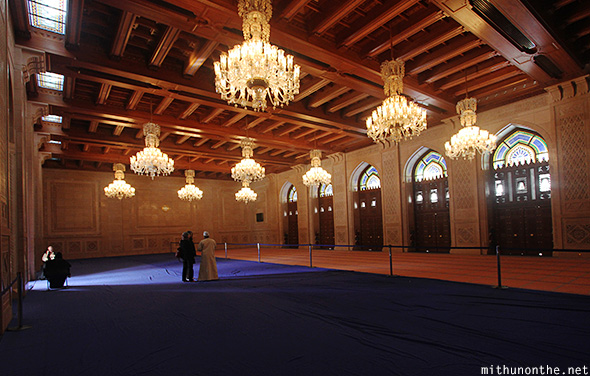 Womens prayer hall Grand Mosque Muscat