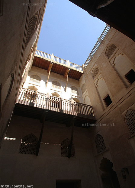 Inside Jabreen castle old architecture Oman