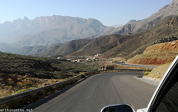Jebel Shams highway Oman