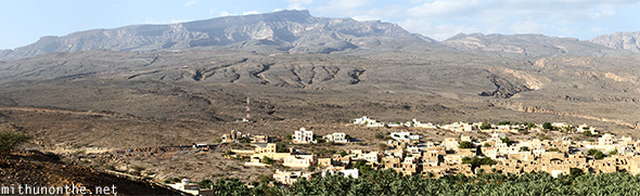 Mountain village panorama Oman