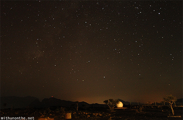 Night sky Jebel Shams Resort Oman