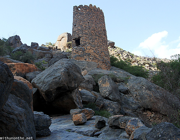 Old tower Misfah mountain Oman