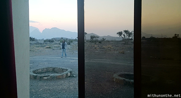 Sliding door Jebel Shams resort villa