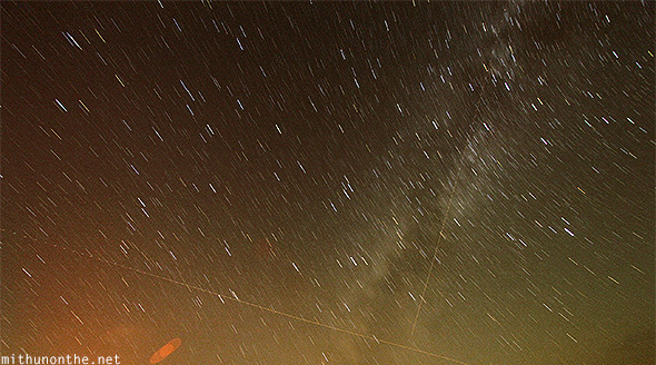 Stars long exposure flights Oman