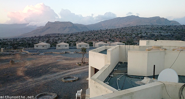 Jebel Shams resort tents mountains Oman