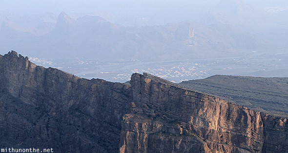 Village behind Jebel Shams Oman