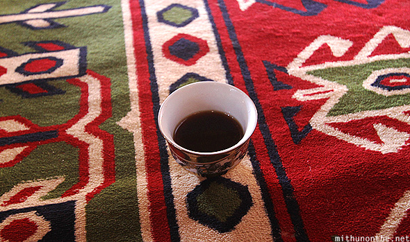 Omani tea Bedouin carpet