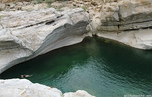 Swimming Wadi Bani Khalid water Oman