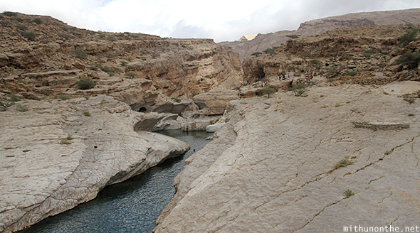 Wadi bani khaled rocks Oman