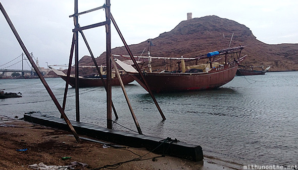 Dhow factory sur river