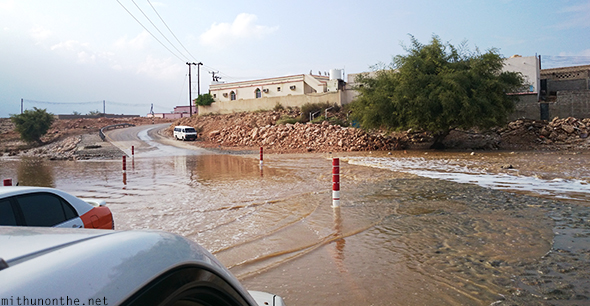 Flooded village Oman