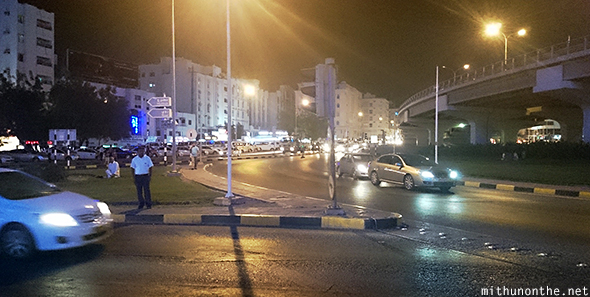 Muscat City streets at night