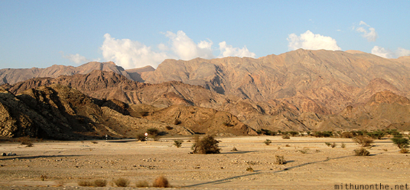 Muscat highway mountains Oman