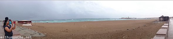 Sur beach panorama Oman