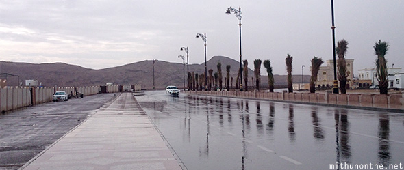 Sur road after rain Oman