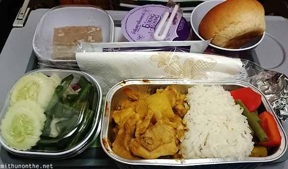 Thai Airways chicken meal