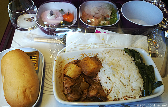 Thai Airways pork meal Haneda flight