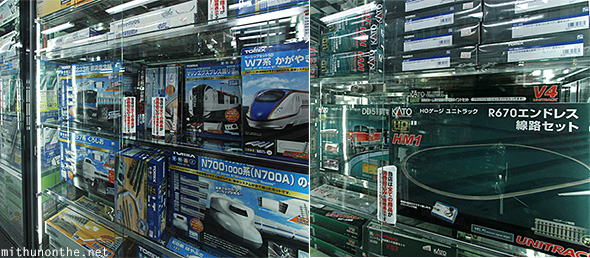 Model trains track Yodobashi Akiba