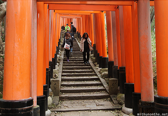 Fushimi inari shrine hill Kyoto Japan