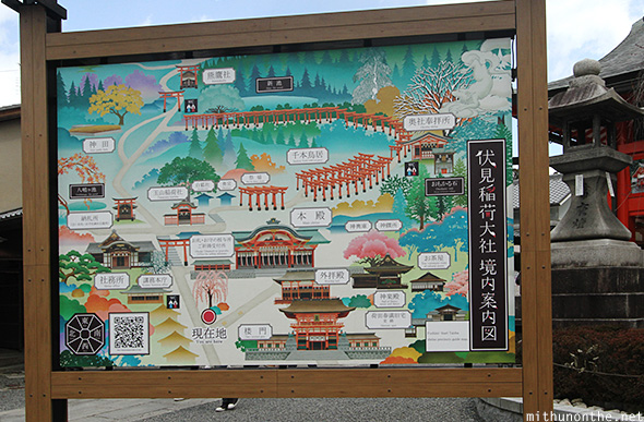 Fushimi Inari-taisha map Japan