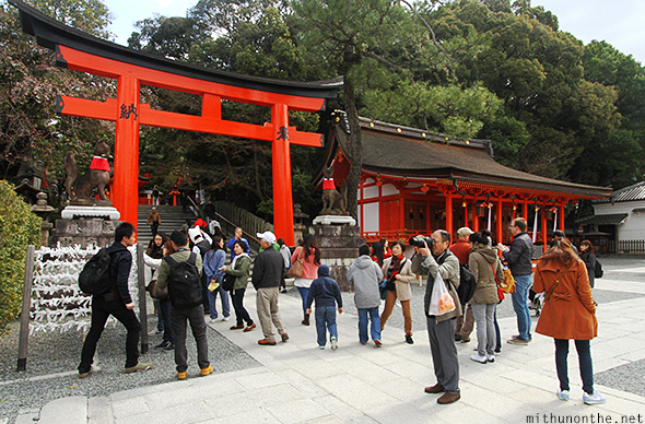 Fushimi-inari taisha tourists Japan