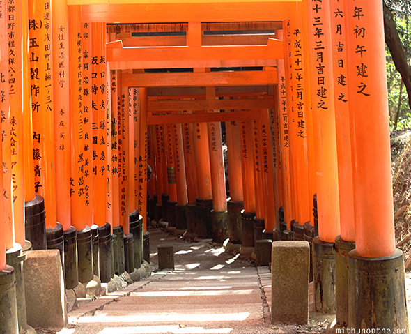 Fushimi Inari torii sponsored Japan