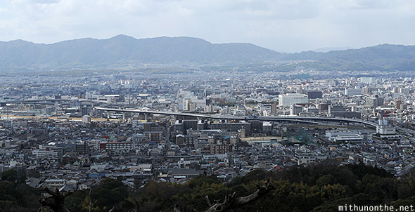 Kyoto city view from Fushimi Hill