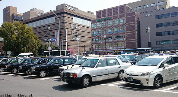 Kyoto station taxis Japan