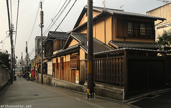 Old Kyoto house Japan neighbourhood