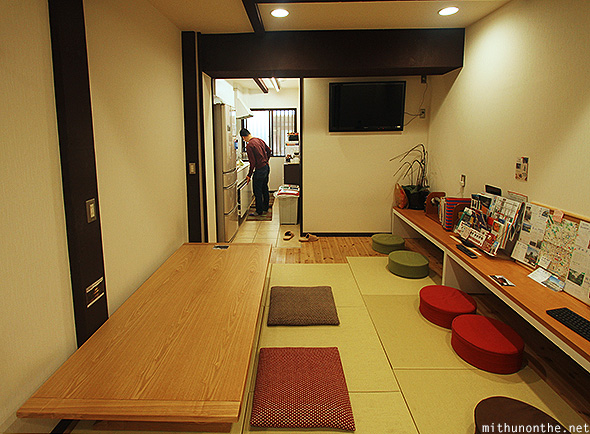 Shiori an Guesthouse dining kitchen Kyoto