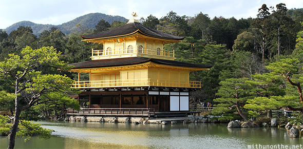 Kinakuji golden temple Kyoto Japan