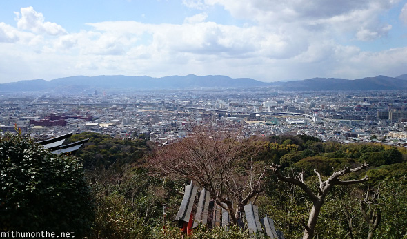 Kyoto city panoramic view Fushimi mountain