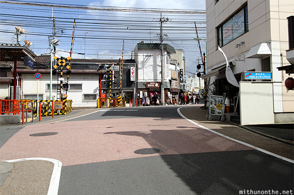 Rail crossing road Fushimi Kyoto