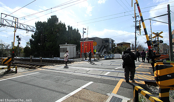 Railway crossing Fushimi Japan