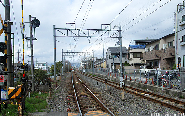 Railway track Kyoto Japan