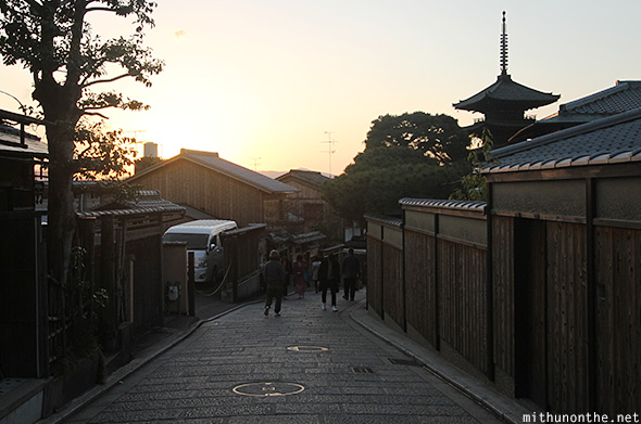 Sunset Kyoto traditional Japan