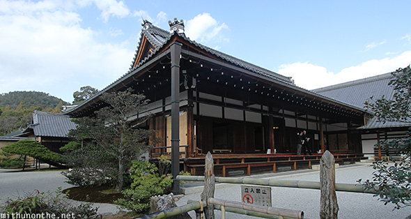 Temple inside Kinakuji Kyoto Japan