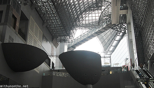 Interior design Kyoto station Japan