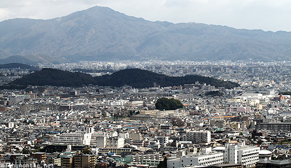 Kyoto city from Mountain top