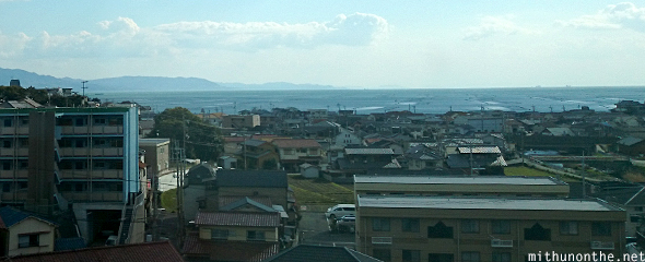 Seaside Japanese city