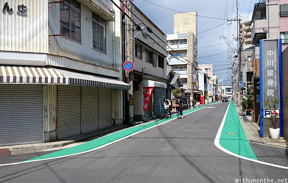 Himeji city roads cycle lane Japan
