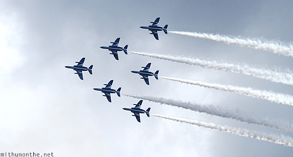 Japan airforce air show formation