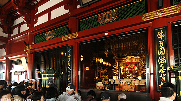 Sensoji Buddhist worship Japan