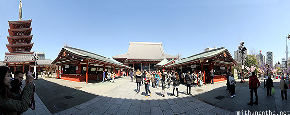 Sensoji temple panorama Japan