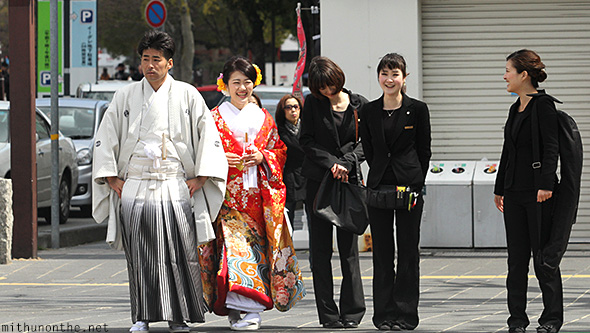 Traditional dress couple Himeji Japan