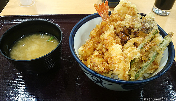 Assorted tempura miso soup