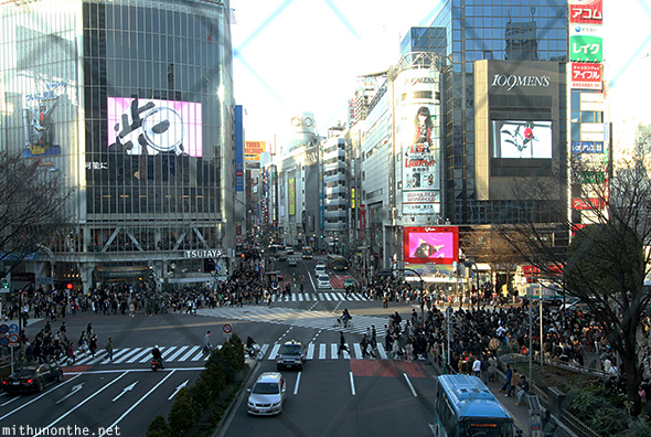 Shibuya crossing from station Japan