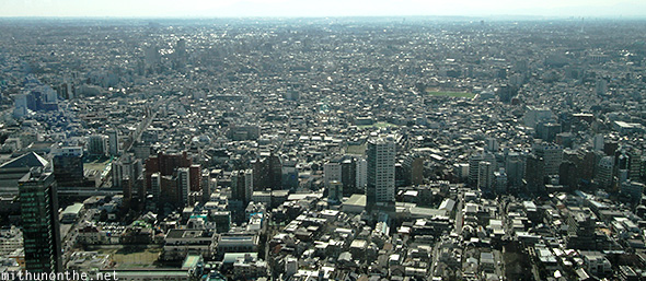 Tokyo city aerial view