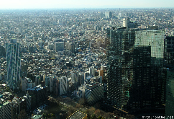 View of Tokyo city from skyscraper