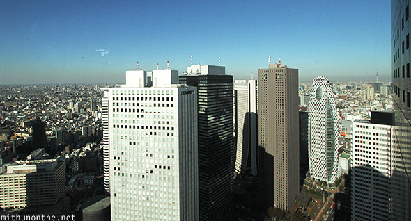 Views from south tower Tokyo Metropolitan building